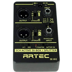 Active DI Box Splitter 2 Channel Artec SE-D12