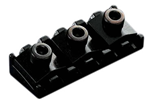 SCHALLER 1387 Locking Nut Black Chrome